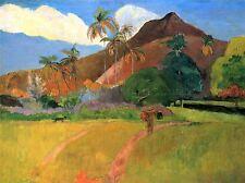 PAUL GAUGUIN MOUNTAINS IN TAHITI OLD MASTER ART PAINTING PRINT POSTER 2190OMA