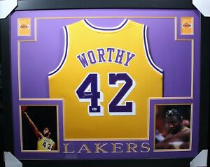 JAMES WORTHY Signed/Autographed 35x43 Framed Jersey - Beckett/BAS