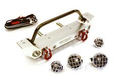 INTEGY RC Car C27655SILVER Scale F Bumper w/LED Lights for Axial 1/10 SCX10 II