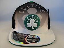 NBA Boston Celtics Adidas Size S/M Flexfit Hat Draft Cap Black White