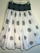 Grace Elements New Exotic Full Gathered Sequin & Bead Embellished Lined Skirt 10