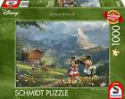 NEW! Disney Mickey & Minnie in the Alps by Thomas Kinkade 1000 piece jigsaw