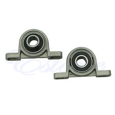 2X Zinc Alloy Diameter Bore Ball Bearing Pillow Block Mounted Support KP001 12mm
