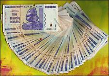 10 BILLION ZIMBABWE DOLLARS x 50 BANKNOTES BUNDLE AA AB 2008 *DAMAGED CONDITION*