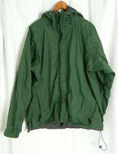 LL Bean Gore Tex Rain Jacket Size Large Blue Stow Away Hood