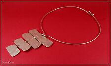 Majique London. precioso Shabby Chic Gargantilla Pechera Distintivo Collar de plata (25)