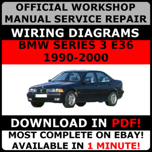 OFFICIAL WORKSHOP Service Repair MANUAL for BMW SERIES 3 E36 1990-2000