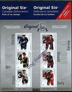 Canada 2014- NHL Teams - Original Six-™: Permanent-™ Domestic Stamps - Pane of 6