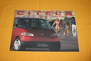 Citroen Citela 1992 Prospekt Brochure Catalog Depliant Prospetto Prospecto