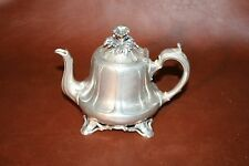 Rare Small Silverplate Flip Lid English Teapot Sheffield Shaw & Fisher No. 1455