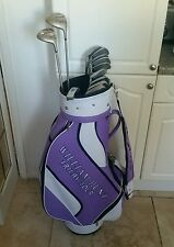 SUPERB FULL SET OF LADIES GOLF CLUBS, TAYLORMADE AND LYNX, RIGHT HANDED