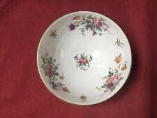 """Minton MARLOW WREATH BACKSTAMP ROUND FOOTED CRANBERRY BOWL 5 1/2"""" MINT"""