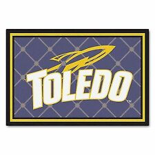 University of TOLEDO Rockets 5 X 8 Area Rug Carpet