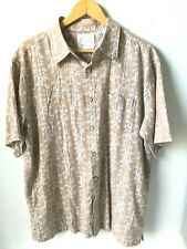 GREEN BAMBOO Men's Hawaiian Camp Shirt size XL Eco Friendly 70% Bamboo Fabric A3