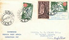 More details for very rare cover, 1957 cambridge french west africa expedition nv8