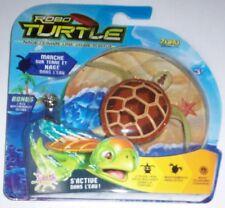 Robo turtle marron jouet enfant robot tortue mouvement réaliste marche et nage