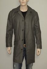 NEW Canvas by Lands' End Trench Coat Olive Size Small Lightweight Linen/Cotton