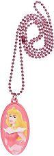 New Disney Princess Sleeping Beauty Mini Pen Dog Tag Chain Necklace Jewelry Kids