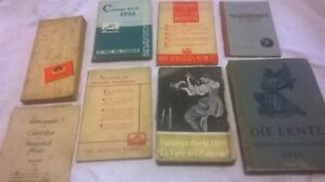 Collection of 8 German + Italian Record Catalogues 1930-50's