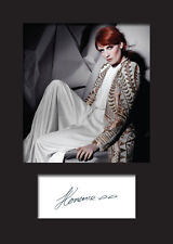 FLORENCE AND THE MACHINE #3 A5 Signed Mounted Photo Print - FREE DELIVERY