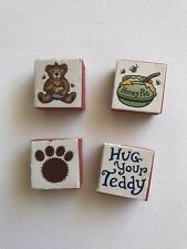 Teddy Bear Honey Pot Stamps Crafts