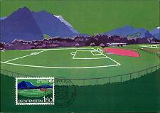 1982 Stempel VADUZ Erstausgabe Liechtenstein 180 Fussball WM Spanien Postkarte