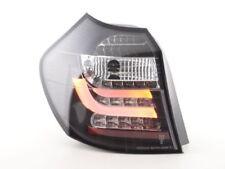 Black clear finish LED lightbar tail rear lights FOR BMW E87 E81 3/5 door 07-11