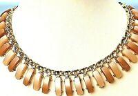 Vintage Egyptian Cleopatra Bib Necklace Choker Faux Statement Necklace