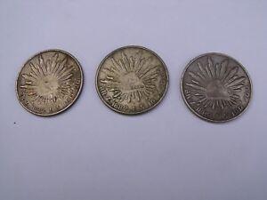 LOT DE 3 PIECES DE 8 REALS MEXIQUE 1882 REPRODUCTION