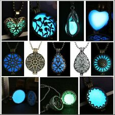 Hot!! Glow Steampunk Magic Locket Charm Women Glow In The Dark Necklace Pendant