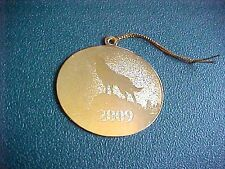 Vintage Miniature Brass 2009 Wolf Defenders of Wildlife Christmas Ornament