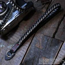 Neues AngebotBarton 1972 Leder Handschlaufe Kameraschlaufe Handgelenkschlaufe | Schwarz Grau