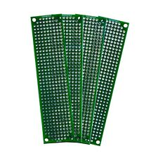 4 Pack High Quality Double Sided Proto Perf Board With Solder Mask 4x1