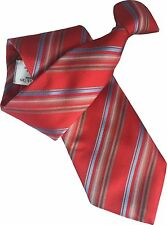 British Woven Silk Mens Striped Clip On Clipper Security Ties Gentlemen Ties