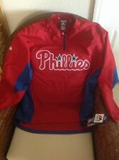 PHILADELPHIA PHILLIES PULLOVER JACKET MLB Baseball Majestic Windbreaker SZ XL