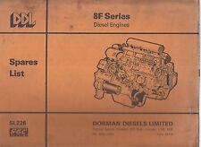 DORMAN 8F SERIES DIESEL ENGINE ORIGINAL FACTORY ILLUSTRATED PARTS CATALOGUE