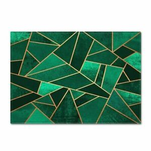 Dark Green Carpet Living Room 3D Printed Geometric Rug Floor Rugs Nordic Carpet