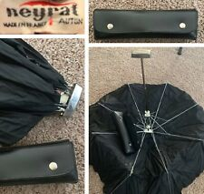 "Vintage Neyrat Autun Umbrella 1960""s France Black Rare Foldable"