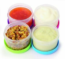 Kitchen Storage Container Salad Dressing To Go Pot Cup Dipping Sauce Pack 4 Safe