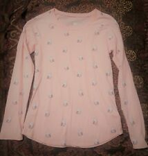 EUC Justice Girls Pink Owl Shirt Size 14