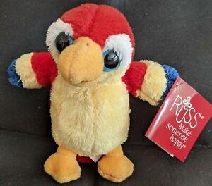 Russ Berrie Big Eye Big Head Plush Beanbag Soft Toy POLLY the Parrot
