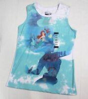 Disney The Little Mermaid Ariel Juniors Silhouette Muscle Tank Tee M Blue White