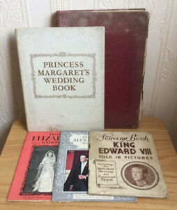 Job Lot Vintage 20th Century British Royal Family Commemorative Books