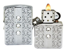 Zippo Lighter 28964 Playboy Bunny Crystals High Polish Chrome Windproof NEW