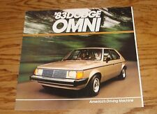 Original 1983 Dodge Omni Sales Brochure 83