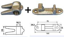 Schließkeil und Gegenhalter in Edelstahl! für Drehstangenverschluss NFZ DMF-H-58
