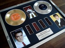 "ELVIS PRESLEY GOLD PLATINUM 7"" DISC RECORD FILM CELL MONTAGE AWARD"