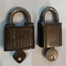 2 Vintage Locks w/Keys; Fraim & Yale Locks; both in working condition