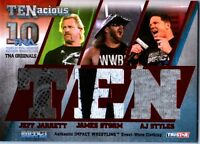 TNA Jeff Jarrett Storm AJ Styles 2012 TENacious RED Triple Relic Card SN 6 of 10