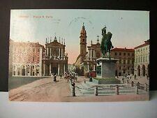 TORINO - Piazza S.Carlo [piccolo, viaggiata, 1917]